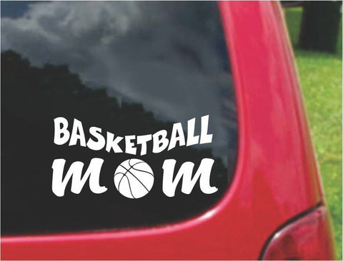 Basketball Mom Sticker Decal with custom text 20 Colors To Choose From.