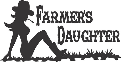 Farmers Daughter Sticker Decal 20 Colors To Choose From.
