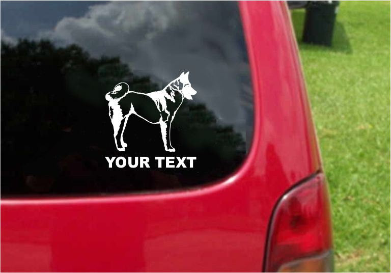 Akita Dog Sticker Decal with custom text 20 Colors To Choose From.