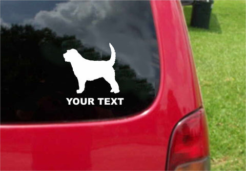 Otterhound Dog Sticker Decal with custom text 20 Colors To Choose From.
