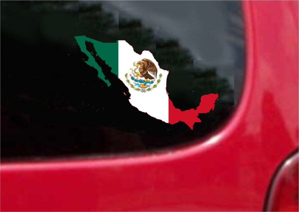 Mexico Outline Map Flag Vinyl Decal Sticker Full Color/Weather Proof.
