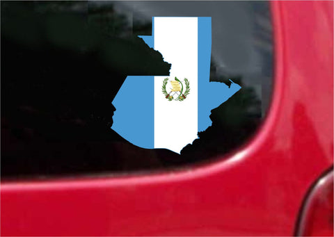 Guatemala Outline Map Flag Vinyl Decal Sticker Full Color/Weather Proof.