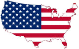 United States USA Outline Map Flag Vinyl Decal Sticker Full Color/Weather Proof.
