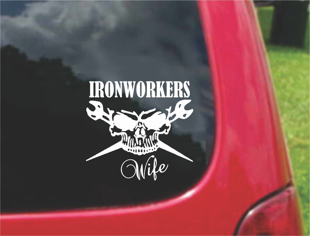 Ironworkers Wife Sticker Decal 20 Colors To Choose From.