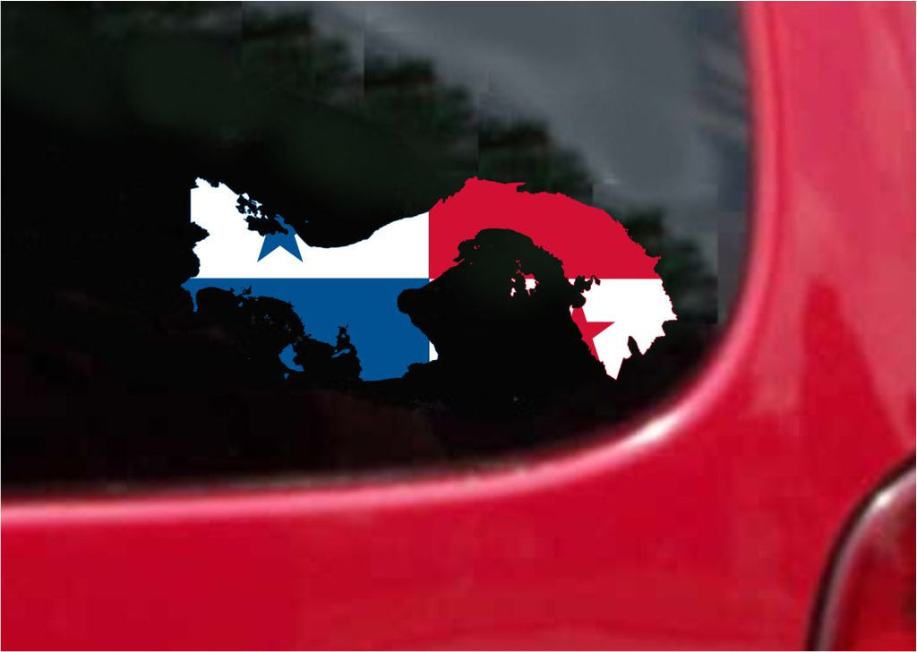 Panama  Outline Map Flag Vinyl Decal Sticker Full Color/Weather Proof.