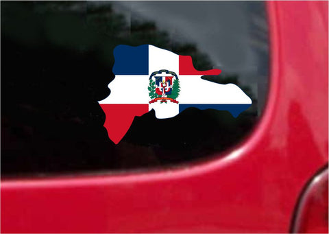 Republica Dominicana Outline Map Flag Vinyl Decal Sticker Full Color/Weather Proof.