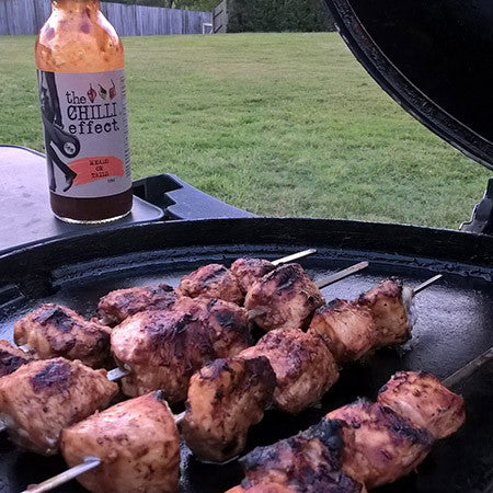 HoT BBQ Chicken Kebabs