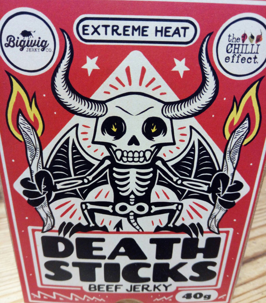 DEATH STICKS - INSANE BEEF JERKY - The Chilli Effect