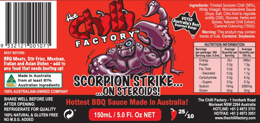 Scorpion Strike on Steroids - Australia's Hottest BBQ Sauce