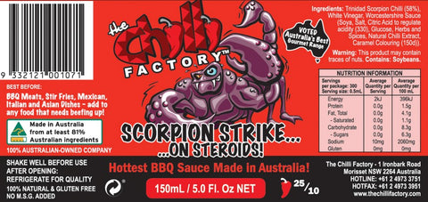 Scorpion Strike on Steroids - Australia's Hottest BBQ Sauce - The Chilli Effect
