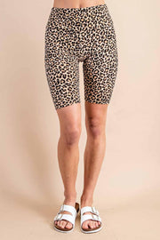 Only The Best Ribbed Leopard Biker Shorts