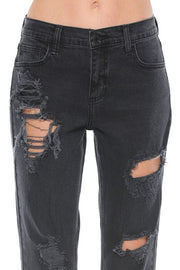 REBEL MID RISE BOYFRIEND DENIM