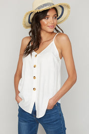 Stay Golden Button Down Tank