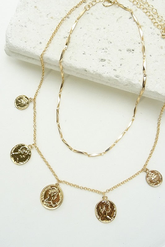 Madrid Layered Coin Necklace