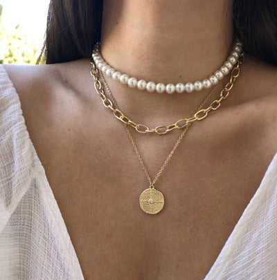 Marilyn Layered Pearl Choker Necklace