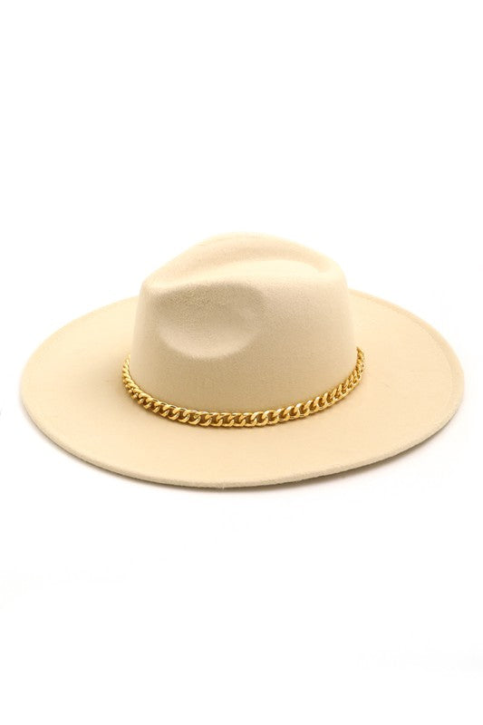 Luxe Chain Hat - Cream