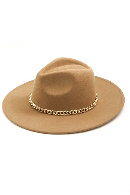 Luxe Chain Hat - Tan