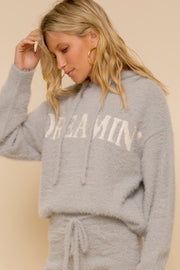 Sweet Dreamin' Eyelash Hoodie Sweater Set