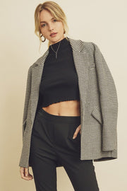 Fifth Avenue Houndstooth Blazer