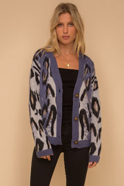 Walking Chic Cardigan - Berry