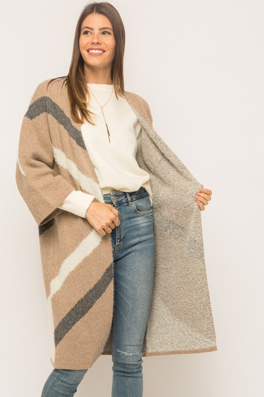 Harvest Wishes Colorblock Cardigan
