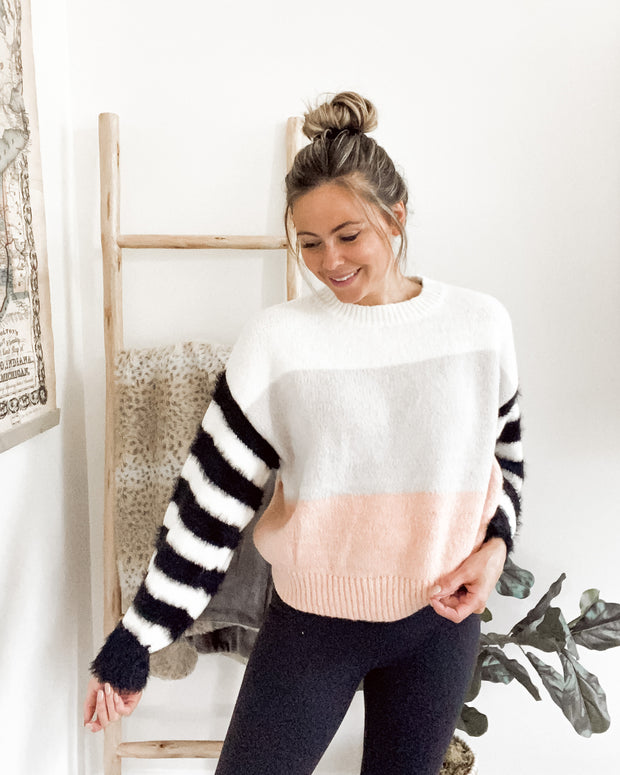 One of a Kind Fuzzy Knit