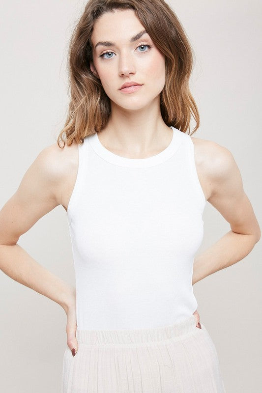 Get Your Attention Ribbed Cami - Ivory