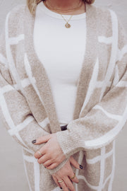 Carrie Grid Cardigan Sweater