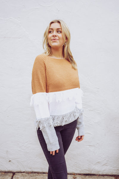 Eyes On You Fringe Sweater