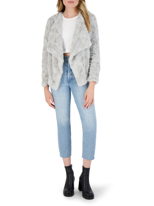 BB Dakota Come Cozy Faux Fur Jacket