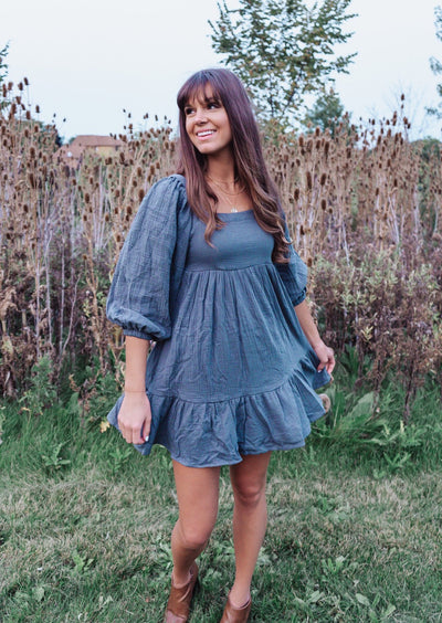 The Fern Darling Babydoll Dress with Bow