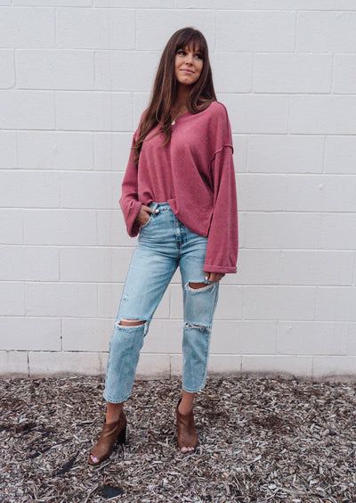 Boho Apple Crisp Oversized Sweater