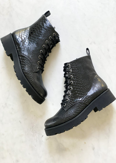 Lotus Lace Up Combat Boot