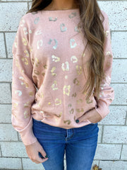 Winter Wishes Leopard Sweater