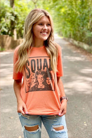 Sanderson Sisters Slouchy Tee - Bright Orange
