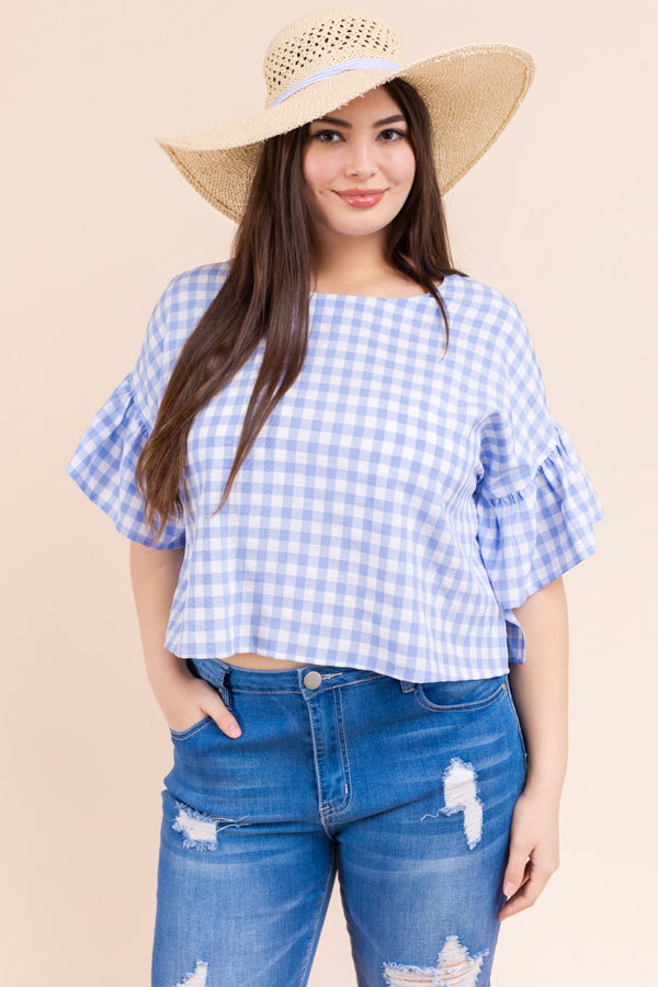 Bless Your Heart Gingham Top