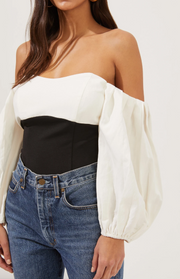 Off The shoulder Puff Sleeve Bodysuit
