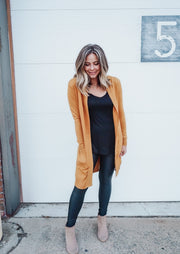 Golden Autumn Skies Long Cardigan