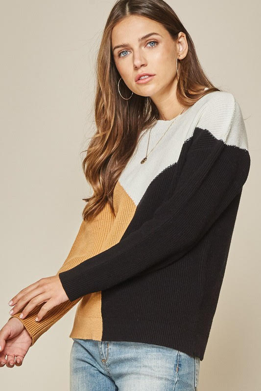 Sweater Weather Color Block Sweater
