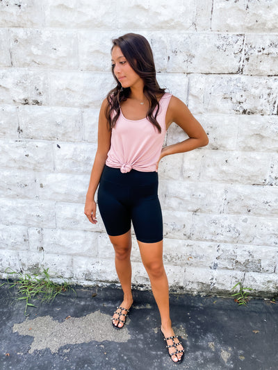 Soft Black Biker Shorts