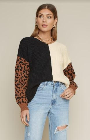 Elly Cheetah Sweater