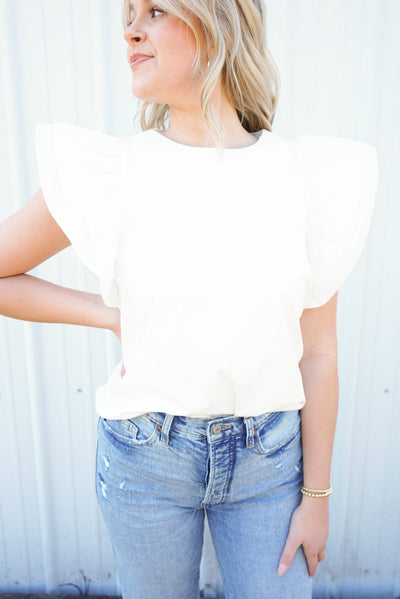 Coco Ruffle Sleeve Top