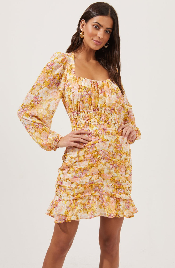 Floral Moment Ruched Dress