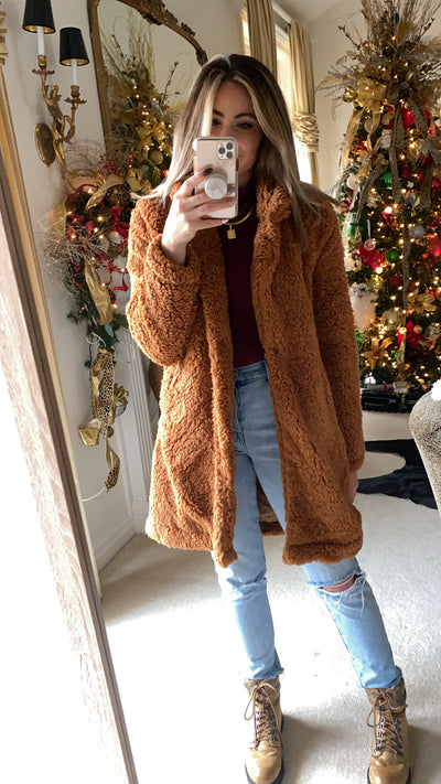 Baby, It's Cold Outside Teddy Sherpa Coat