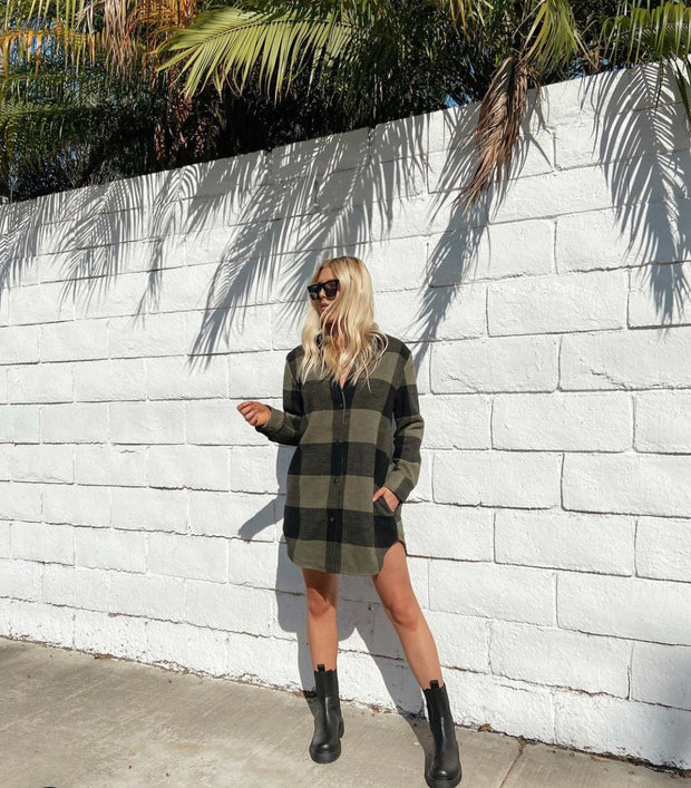 BB Dakota Eldridge Plaid Shacket