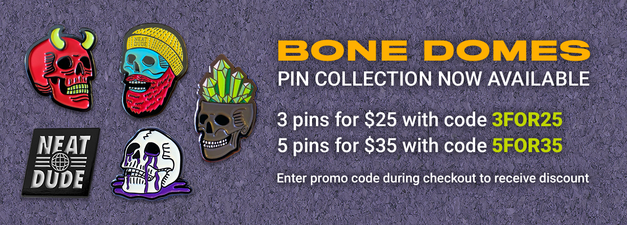 bone domes pin collection now available