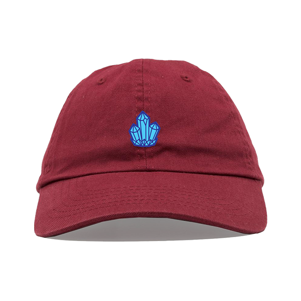 Crystal Dad Hat - Maroon