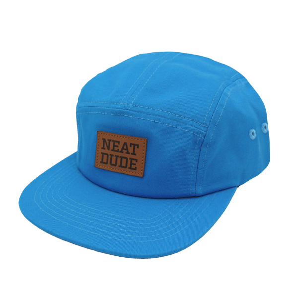 5 Panel Strapback Hat - Blue