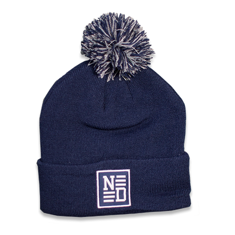 Patch Pom Beanie - Navy
