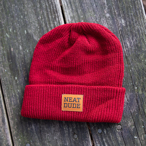 Patch Beanie - Maroon